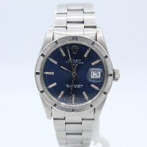 Rolex Oyster Perpetual Date Steel 34mm Blue No numerals United States of America, New York, New York