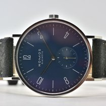NOMOS Tangente 38 pre-owned 38mm Blue Leather
