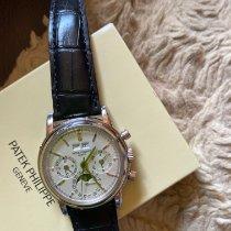 Patek Philippe Perpetual Calendar Chronograph Ouro branco 36mm Branco
