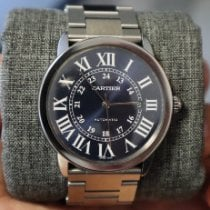 Cartier Ronde Croisière de Cartier Steel 42mm Blue Roman numerals United States of America, New York, Flushing