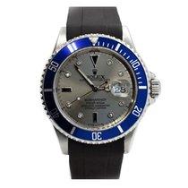 Rolex Submariner Date Acier 40mm Argent Sans chiffres