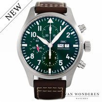 IWC Pilot Chronograph Staal 42mm Groen Nederland, Purmerend