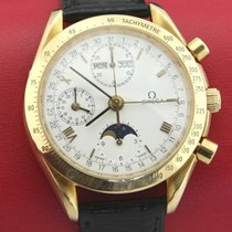 Omega Speedmaster Professional Moonwatch Moonphase Oro amarillo 39mm Blanco