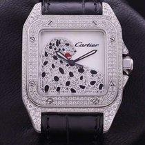 卡地亚 钢 44mm 自动上弦 100% Original Santos 100 XL custom diamond 全新 中国, Shanghai