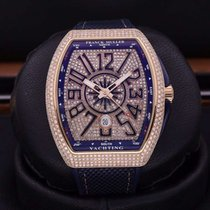 法兰克穆勒 玫瑰金 44mm 自动上弦 Vanguard Yachting V 45 Rose gold customized full diamond 二手 中国, Shanghai