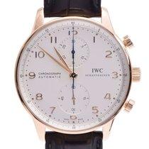 IWC Rotgold Automatik Silber 41mm gebraucht Portugieser Chronograph