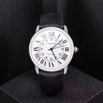 Cartier Stahl 36mm Automatik 100% Original Ronde de Cartier Solo 36MM custom diamond gebraucht