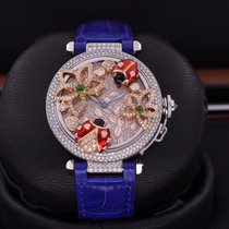 Cartier Steel 36mm Automatic 100% Original Pasha 36MM Creative insect custom diamond pre-owned