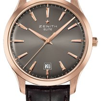 Zenith Captain Central Second Or rose 40mm Gris