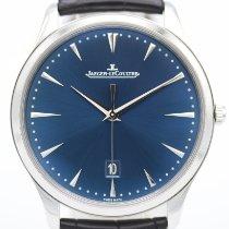 Jaeger-LeCoultre Master Ultra Thin Date Stahl 40mm Blau Keine Ziffern