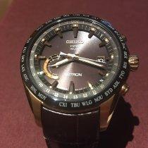 Seiko Astron GPS Solar Chronograph Titanio 44mm Marrone Senza numeri Italia, MONDOVI'