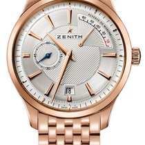 Zenith Captain Power Reserve Oro rosa 40mm Plata