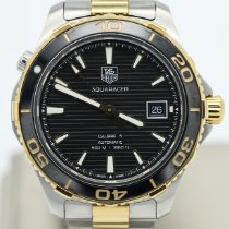 TAG Heuer Aquaracer 500M pre-owned 41mm Black Date Gold/Steel
