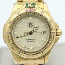 TAG Heuer Yellow gold Quartz Champagne No numerals 30mm pre-owned