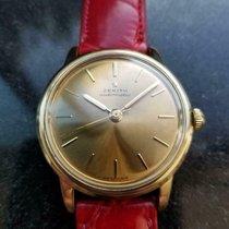 Zenith pre-owned Automatic 35mm Gold Plexiglass