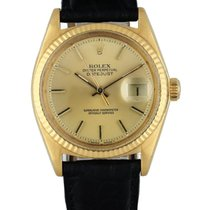 Rolex 1601 Yellow gold 1973 Datejust 36mm pre-owned United States of America, New York, New York