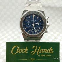 Audemars Piguet Royal Oak Chronograph Staal 39mm Blauw Geen cijfers