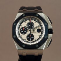 Audemars Piguet Royal Oak Offshore Chronograph Stål 44mm Sølv Ingen tal