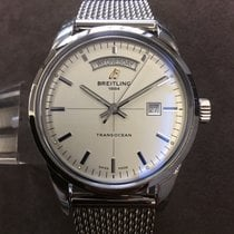 Breitling Transocean Day & Date Steel 43mm Silver