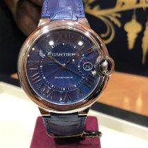 Cartier Ballon Bleu 42mm подержанные 42mm Синий Дата Кожа аллигатора