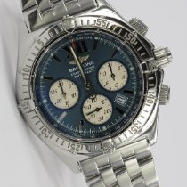 Breitling Windrider gebraucht 39mm Blau Chronograph Datum Stahl