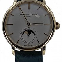 Frederique Constant Manufacture Slimline Moonphase pre-owned 42mm Moon phase Leather