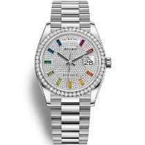 Rolex 128349RBR-0006 Or blanc 2021 Day-Date 36 36mm nouveau