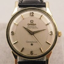 Omega Constellation pre-owned 34mm White Year Leather