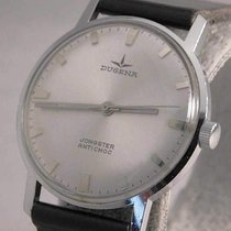 Dugena Steel Manual winding Silver 34mm pre-owned