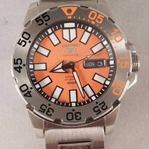 Seiko Monster Steel 43mm Orange No numerals United States of America, Michigan, Warren
