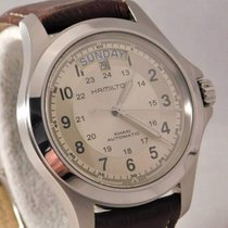 Hamilton Khaki Field Day Date Steel 40mm Silver Arabic numerals United States of America, Michigan, Warren