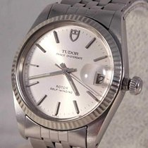 Tudor Steel Silver 34mm pre-owned Prince Oysterdate