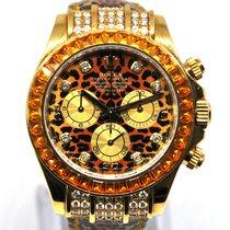 Rolex Daytona Aur galben 40mm Portocaliu Fara cifre