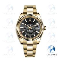 Rolex Sky-Dweller Oro amarillo 42mm Negro Arábigos