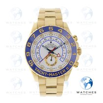 Rolex Yellow gold Automatic White No numerals 44mm pre-owned Yacht-Master II