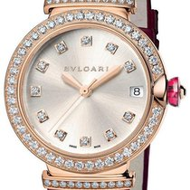 Bulgari Lucea Rose gold 33mm Silver No numerals