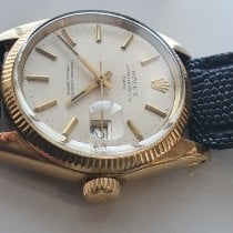 Rolex Oyster Perpetual Date Yellow gold Silver No numerals Australia, bentley