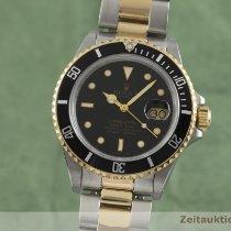 Rolex Submariner Date Guld/Stål 40mm Sort