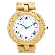 Cartier Santos (submodel) Жёлтое золото 27mm Белый Римские