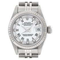 Rolex Oyster Perpetual Lady Date Acero 26mm Blanco Romanos