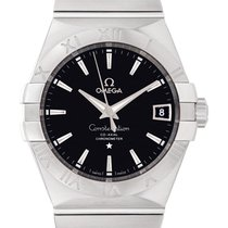 Omega Constellation Men Steel 38mm Black No numerals United States of America, Florida, Surfside