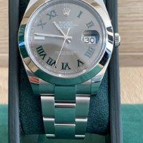 Rolex Datejust Acier 41mm Noir Sans chiffres France, nice