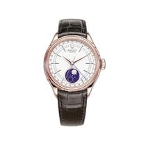 Rolex Cellini Moonphase Or rose 39mm Blanc