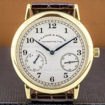 A. Lange & Söhne 1815 Yellow gold 36mm Silver Arabic numerals United States of America, Massachusetts, Boston