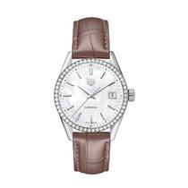 TAG Heuer Carrera Lady WBK1316.FC8258 Tag Heuer 36mm Quarzo MoP Marrone Diamanti 2020 neu