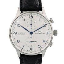 IWC Portuguese Chronograph Stål 41mm Vit