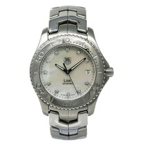 TAG Heuer Link Quartz pre-owned 38mm Mother of pearl Date Steel