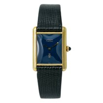 Cartier Tank Vermeil Yellow gold 24mm Blue United States of America, New York, New York