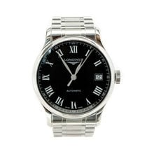 Longines Master Collection pre-owned 51mm Black Date Steel