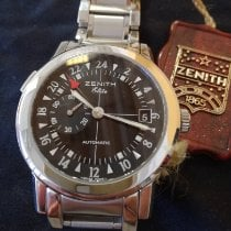 Zenith Steel Automatic 39mm new Elite Dual Time